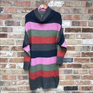Solutions! Sweater Cowl Neck Dress Size L